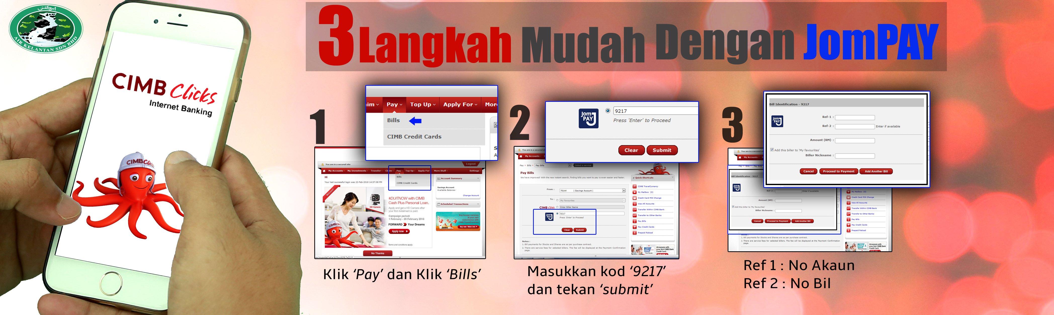 Bayar Bil AKSB Anda Menggunakan JomPAY - Air Kelantan Sdn